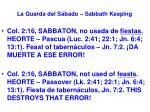 la guarda del s bado sabbath keeping50