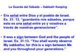 la guarda del s bado sabbath keeping6