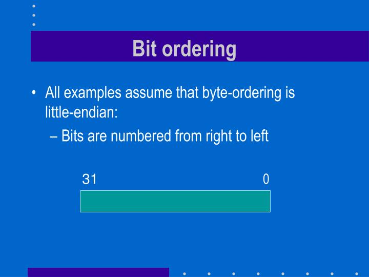 Bit ordering