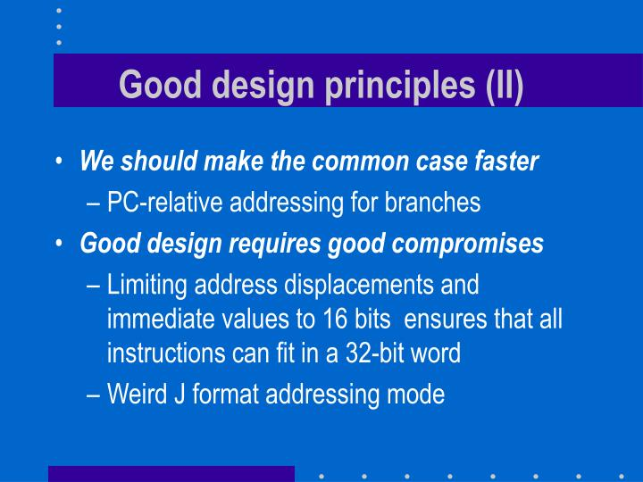 Good design principles (II)