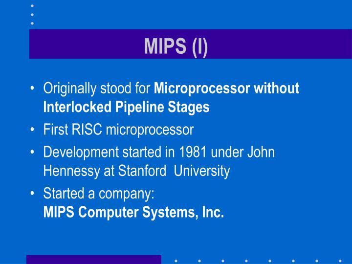 MIPS (I)