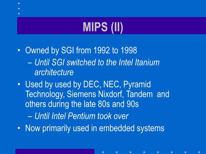 MIPS (II)