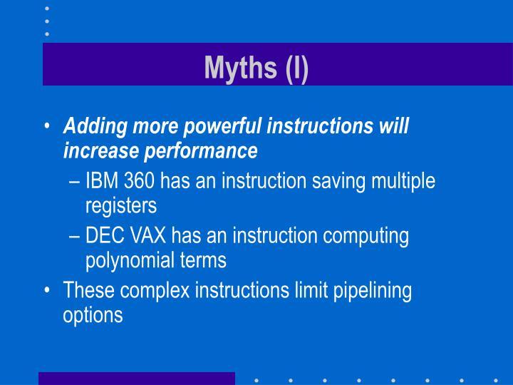 Myths (I)