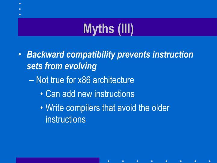 Myths (III)
