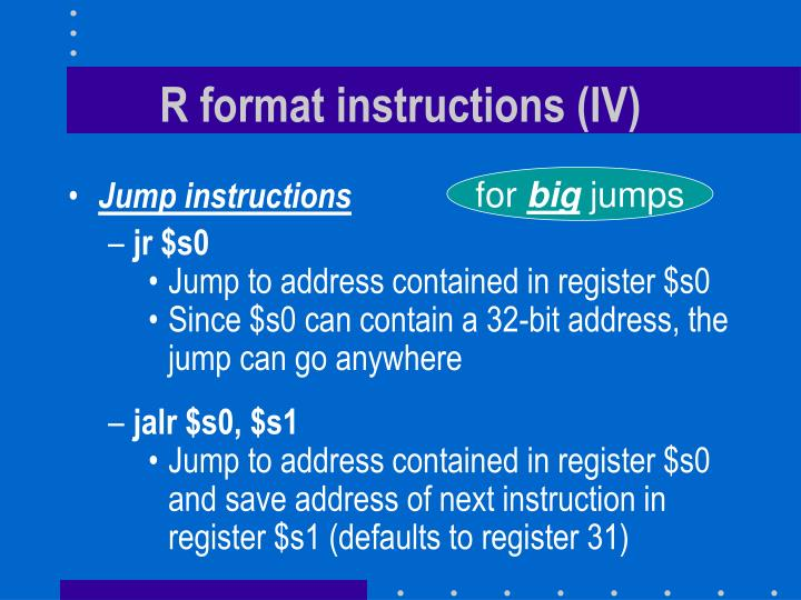 R format instructions (IV)