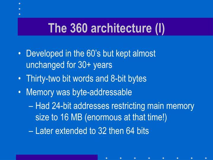 The 360 architecture (I)