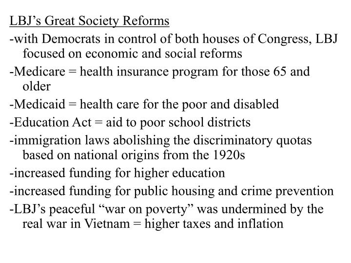 LBJ's Great Society Reforms