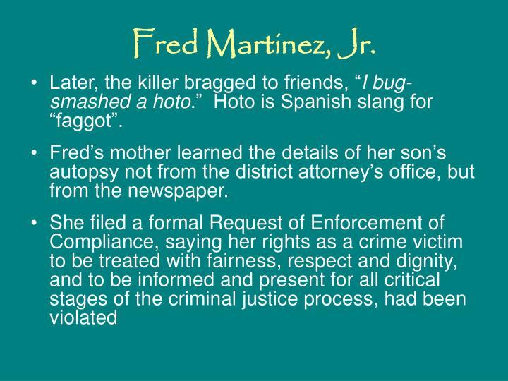 Fred Martinez, Jr.