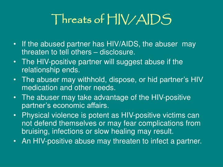 Threats of HIV/AIDS