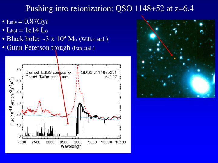 Pushing into reionization: QSO 1148+52 at z=6.4