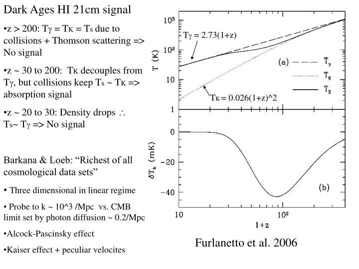 Dark Ages HI 21cm signal
