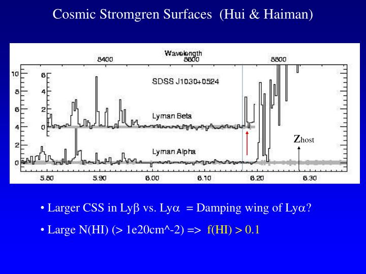 Cosmic Stromgren Surfaces  (Hui & Haiman)