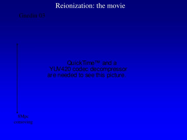 Reionization: the movie