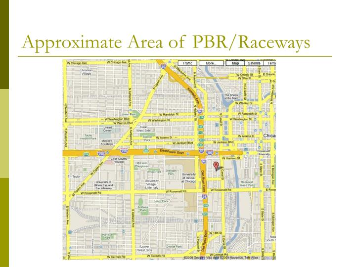 Approximate Area of PBR/Raceways