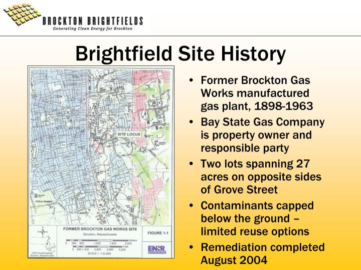 Brightfield Site History