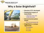 why a solar brightfield