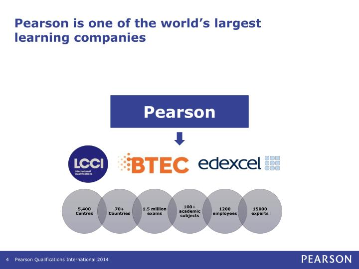 Pearson is one of the world