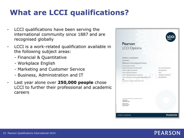 What are LCCI qualifications?