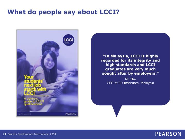 What do people say about LCCI?