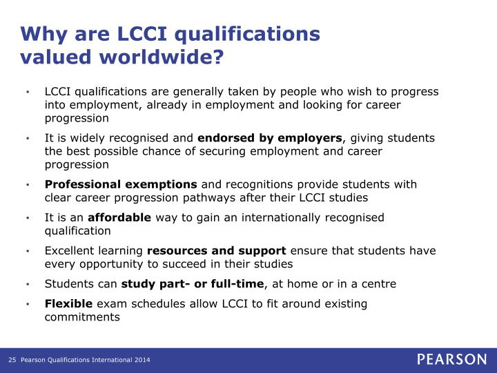 Why are LCCI qualifications