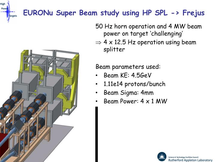 EURONu Super Beam study using HP SPL -> Frejus