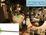 t2k target and horn designed for 750 kw