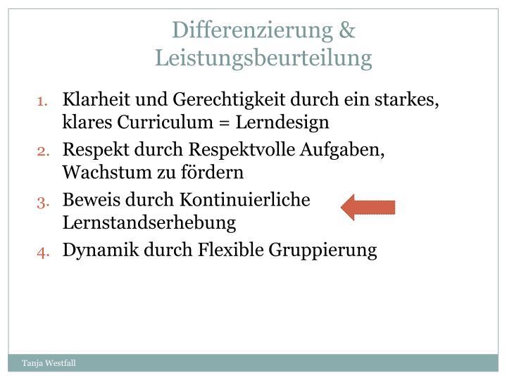 Differenzierung & Leistungsbeurteilung