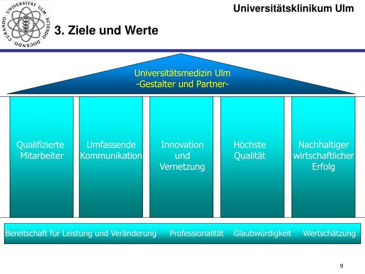 3. Ziele und Werte