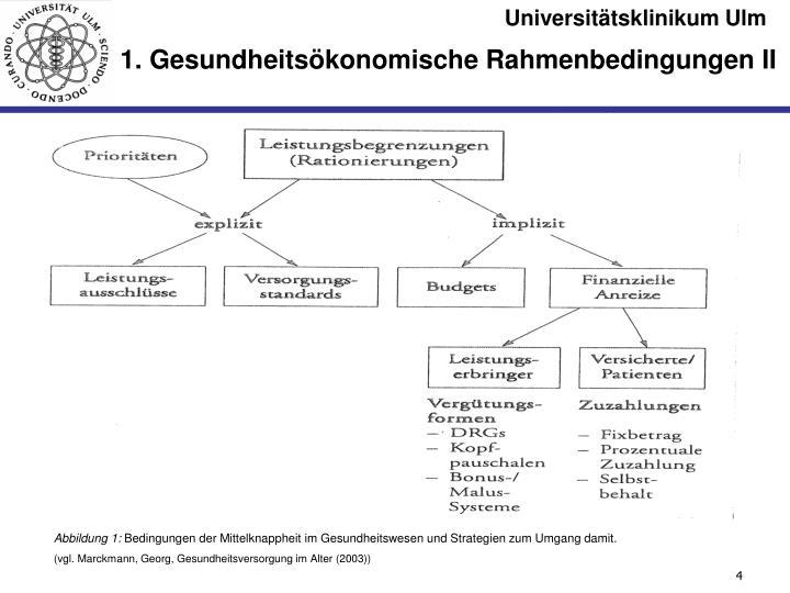 1. Gesundheitsökonomische Rahmenbedingungen II