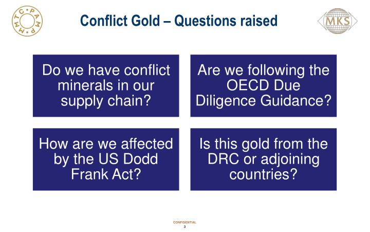 Conflict Gold – Questions raised