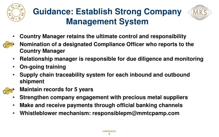 Guidance: Establish Strong Company Management System
