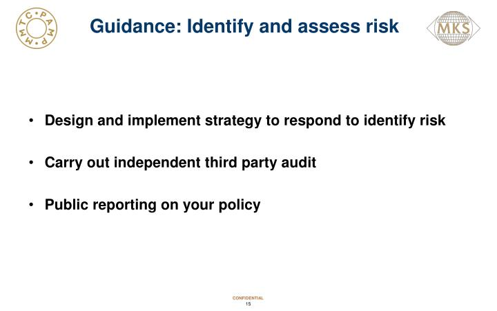 Guidance: Identify and assess risk