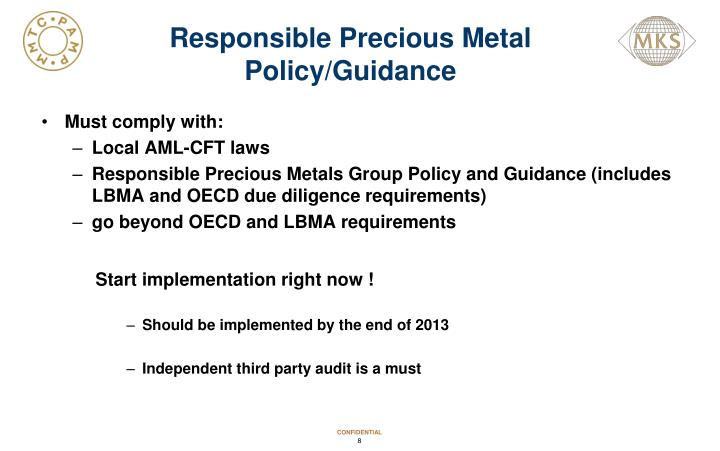 Responsible Precious Metal  Policy/Guidance