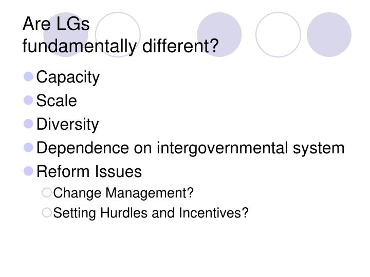 Are lgs fundamentally different