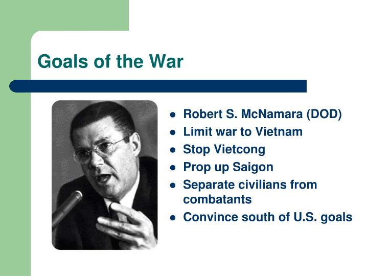 Goals of the War