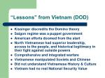 lessons from vietnam dod