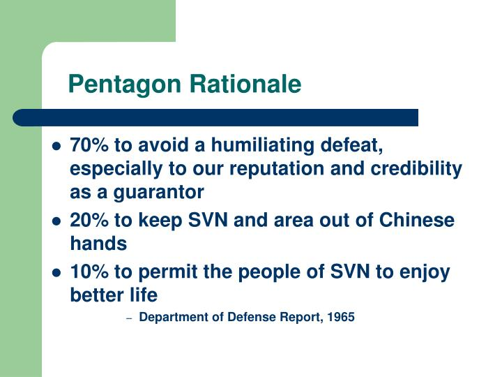 Pentagon Rationale