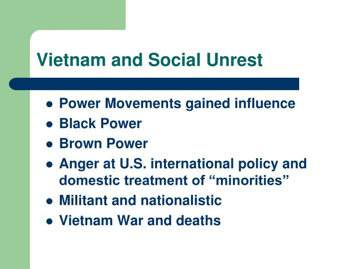 Vietnam and Social Unrest