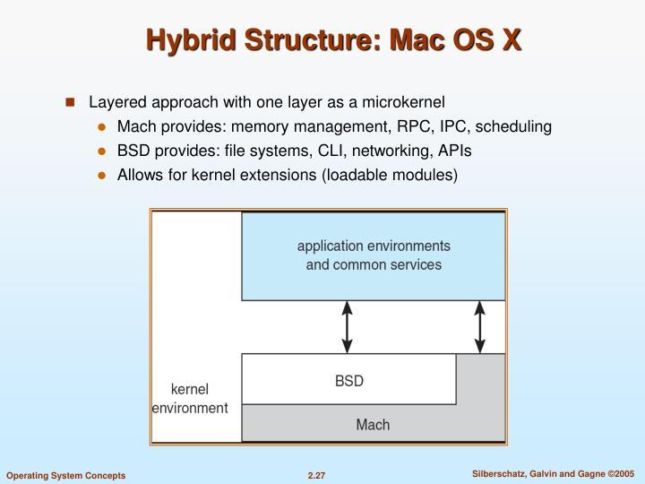 Hybrid Structure: Mac OS X