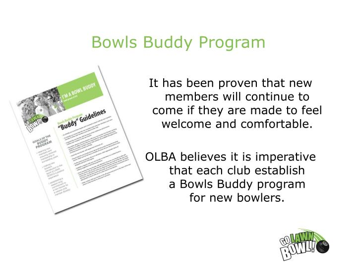 Bowls Buddy Program