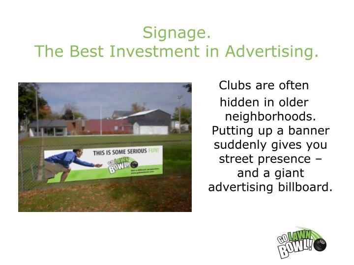 Signage.