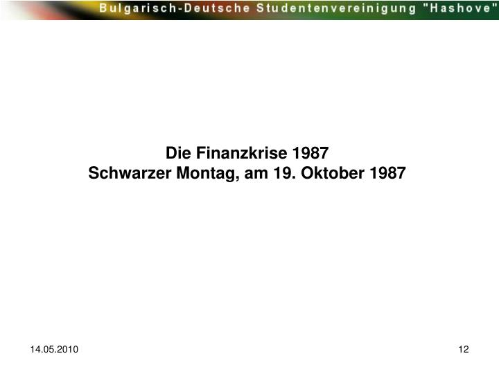 Die Finanzkrise 1987