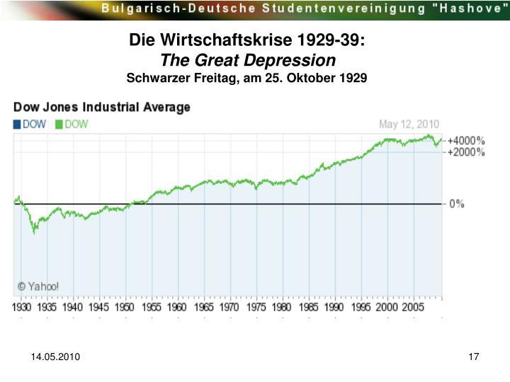 Die Wirtschaftskrise 1929-39: