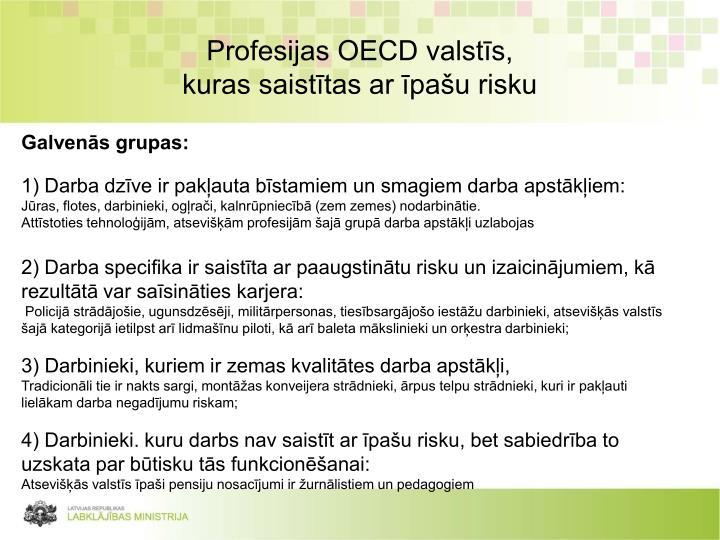 Profesijas OECD valstīs,
