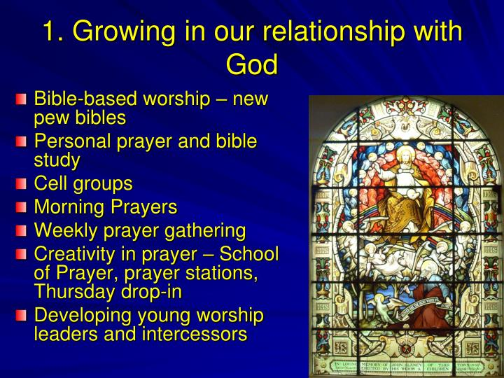 1. Growing in our relationship with God