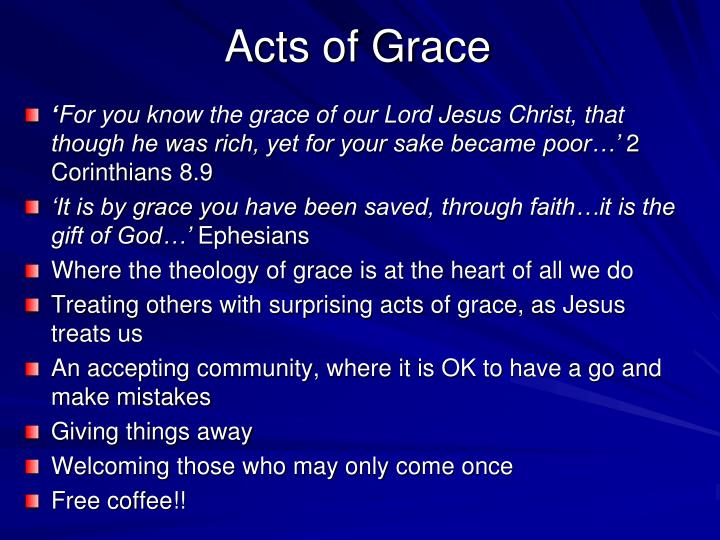 Acts of Grace
