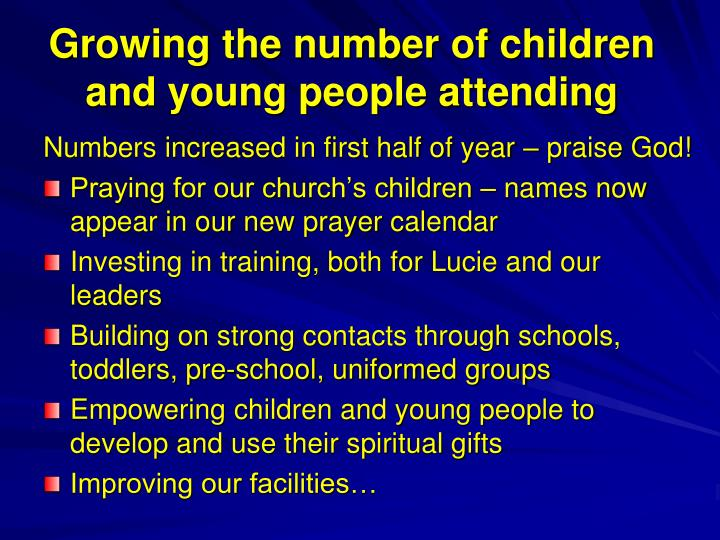 Growing the number of children and young people attending