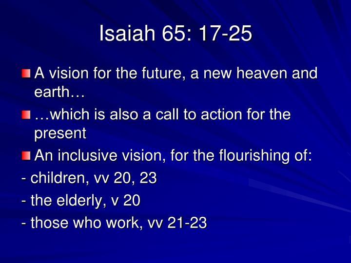 Isaiah 65: 17-25