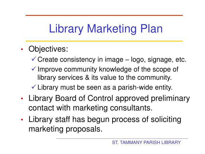 Library Marketing Plan