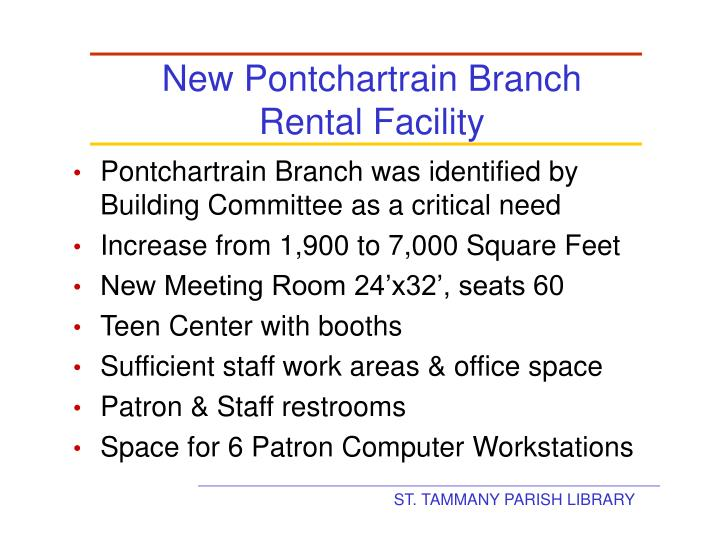 New Pontchartrain Branch